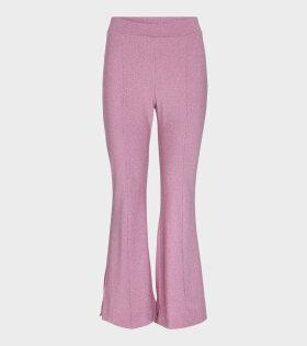 Stine Goya Melanie Glitter Jersey Pants Pink - dr. Adams