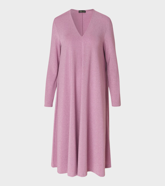 Stine Goya - Lauren Glitter Jersey Dress Rose Pink