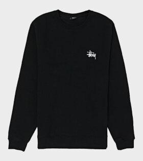 Basic Stussy Crew Black
