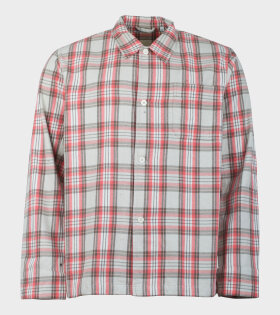 Our Legacy Box Shirt Red/Beige - dr. Adams