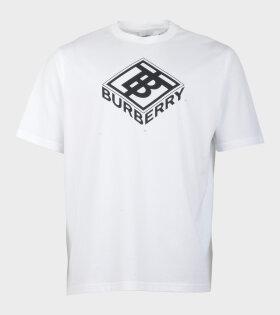 Burberry Ellison Logo T-Shirt White - dr. Adams