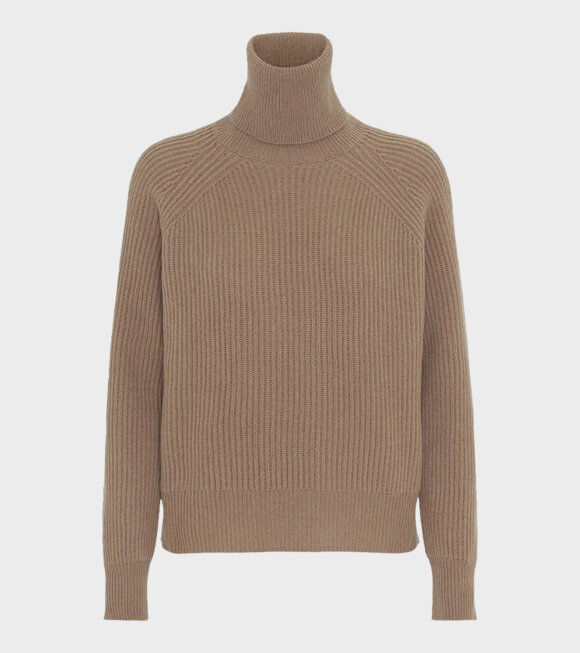 Remain - Jerome LS Roll Neck Beige