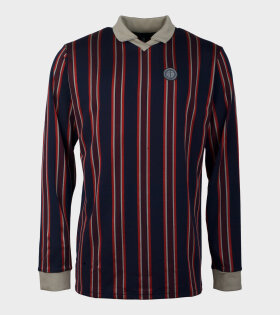 Polo Long Sleeve Blue/Red