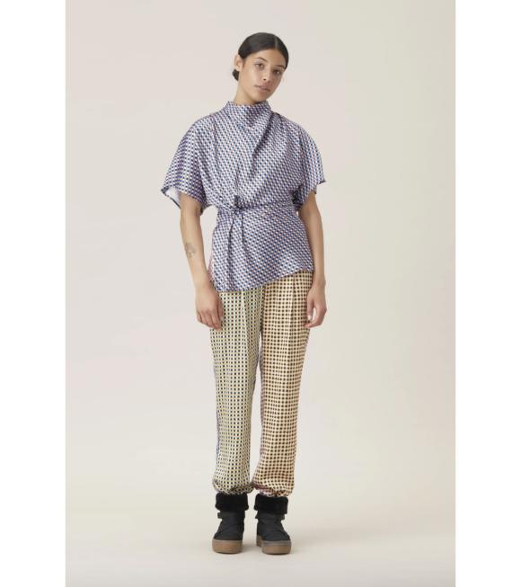 Stine Goya - Jelena Gingham Poly Pants Multicolor