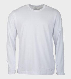Comme Des Garçons Shirt Longsleeved T-shirt White - dr. Adams