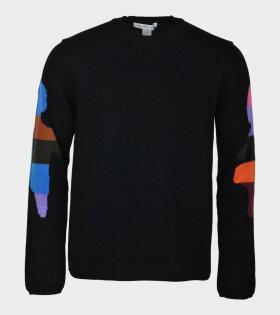 Comme Des Garçons Shirt Knit Color Mann Black - dr. Adams