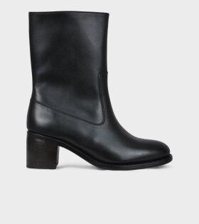 A.P.C Boots Eva Noir Black - dr. Adams
