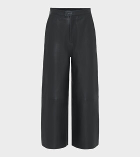 Remain Manu Cropped Pants Leather Black - dr. Adams