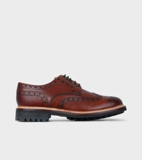 Grenson Archie Tan Hand Painted Shoes Brown - dr. Adams