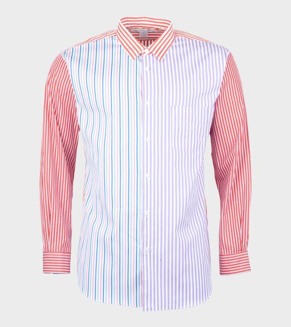 Comme des Garcons Shirt - Longsleeved Shirt Red/Purple/Blue