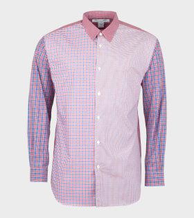 Comme Des Garçons Shirt Longsleeved Shirt Red/Blue - dr. Adams