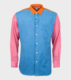 Comme Des Garçons Shirt Long Sleeve Shirt Blue/Pink/Orange - dr. Adams