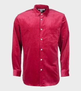 Comme Des Garçons Shirt Longsleeved Shirt Red - dr. Adams
