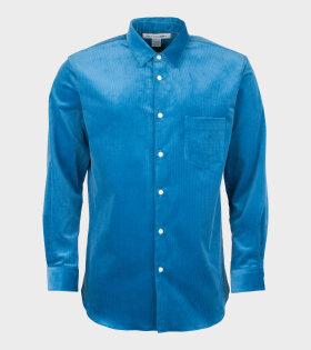 Comme Des Garçons Shirt Long Sleeve Shirt Blue - dr. Adams