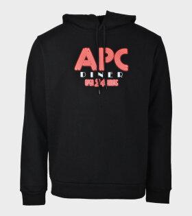 A.P.C BENITO Logo Sweatshirt Black - dr. Adams
