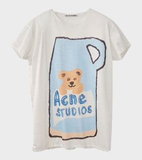 Acne Studios Erry Synthetic Placed Print White - dr. Adams