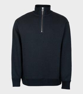 Filippa K Miles Zip Sweatshirt Ink Grey  - dr. Adams