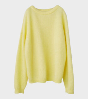 Acne Studios Dramatic Mohair Knit Yellow dr. Adams