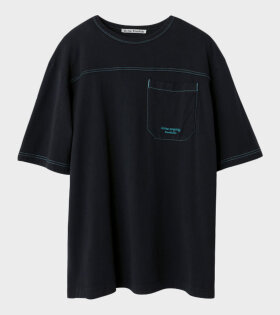 Acne Studios Relaxed Fit T-shirt Dark Anthracite Black - dr. Adams