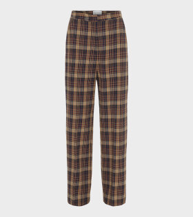 Remain Dublin Pant Winter Check Brown - dr. Adams