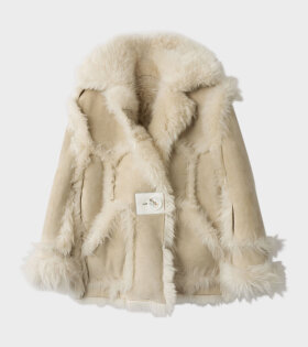 Acne Studios Oversized Fur Jacket Cream/Off-White - dr. Adams
