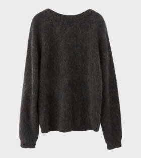 Acne Studios Dramatic Moh Oversized Sweater Warm Charcoal - dr. Adams