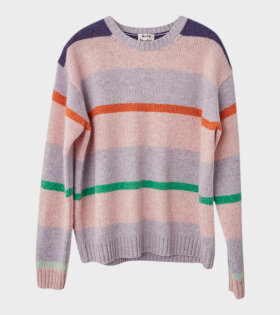 Acne Studios Kalexia Shetland Striped Sweater Lila/Multi - dr. Adams