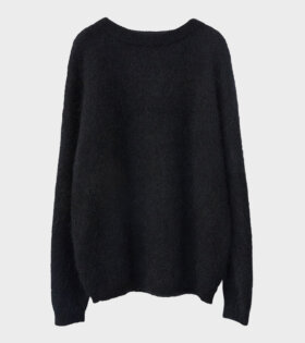 Acne Studios Dramatic Moh Oversized Sweater Black - dr. Adams