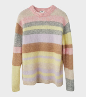 Acne Studios Kalbah Moh Oversized Striped Sweater Lilac/Yellow Multi - dr. Adams