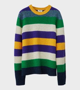 Acne Studios Kai Seasonal Stripe Wool Striped Crewneck Sweater Multicolor - dr.