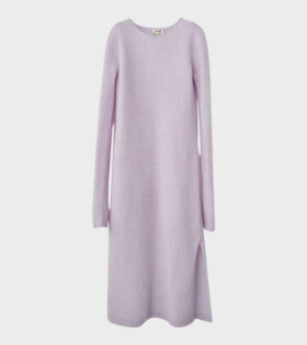 Acne Studios Mohair-Blend Midi Dress Lilac Purple - dr. Adams