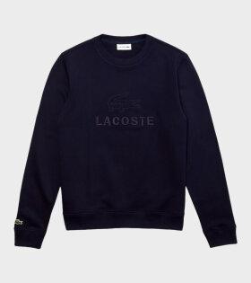 Embroidery Sweatshirt Navy