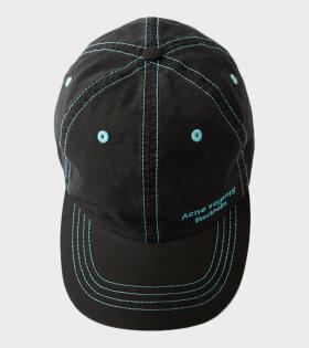Acne Studios Carliy Dye Logo-Embroidered Cap Black - dr. Adams