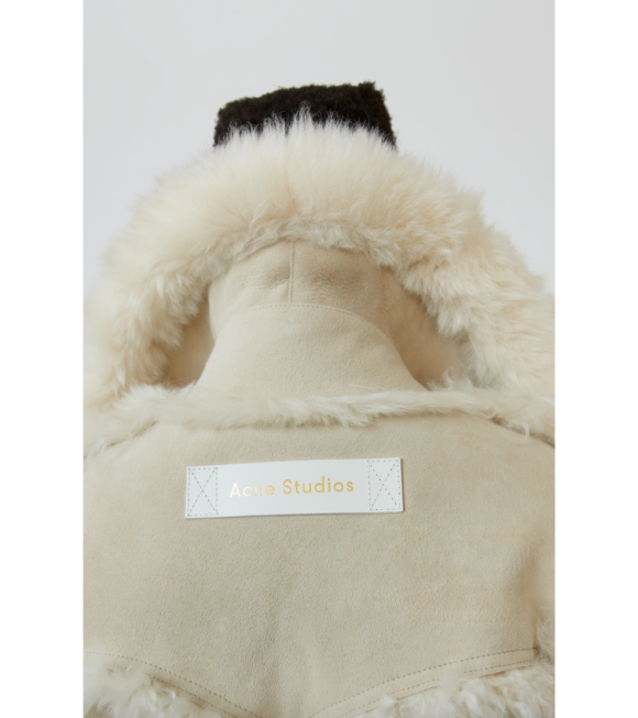 Acne Studios - Oversized Fur Jacket Cream/Off-White