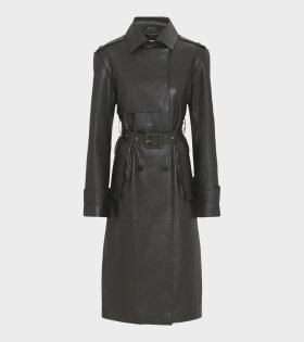Remain Pirello Trenchcoat Leather Brown - dr. Adams