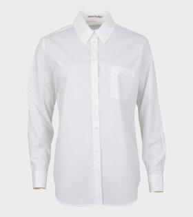 Acne Studios Simona Logo-Embroidered Poplin Shirt White - dr. Adams