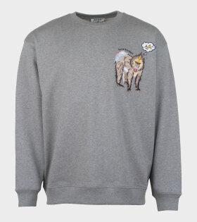 Acne Studios Forba Animal-Embroidered Sweatshirt Grey - dr. Adams