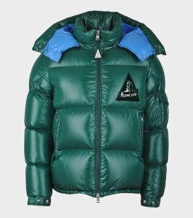 Moncler Wilson Down Jacket Green/Blue - dr. Adams