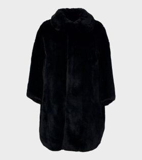 Comme Des Garçons RD-C009-051-1 Faux Fur Jacket Black - dr. Adams