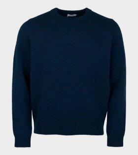 Acne Studios Kai Wool Regular Crewneck Sweater Blue - dr. Adams