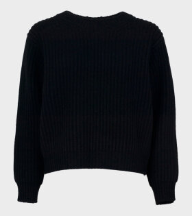 Acne Studios Rib-Knit Sweater Black - dr. Adams