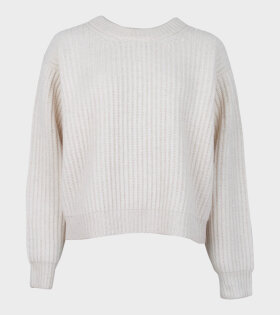 Acne Studios Rib-Knit Sweater White - dr. Adams