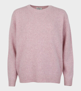 Acne Studios Samara Wool Crewneck Sweater Pink - dr. Adams