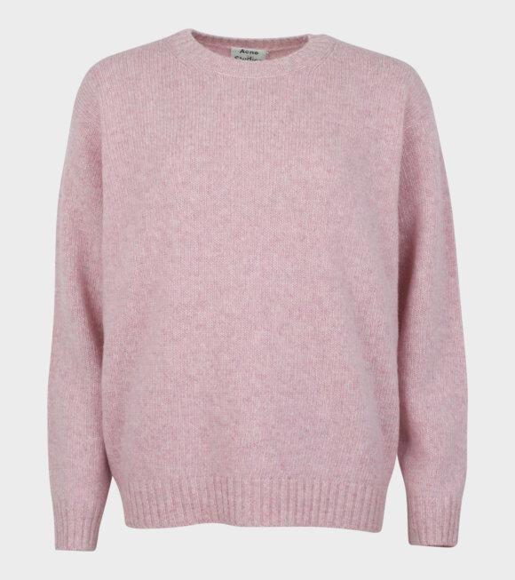 Acne Studios - Samara Wool Crewneck Sweater Pink