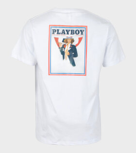 Soulland Meets Playboy November T-shirt White - dr. Adams