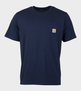 Carhartt S/S Pocket T-shirt Navy Blue - dr. Adams