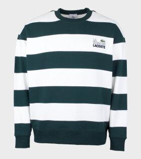 Logo Stripe Sweatshirt Green/White