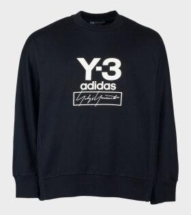 Y-3 Adidas Long Sleeve Logo T-shirt Black - dr. Adams