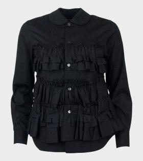 Comme Des Garçons Fringe Shirt Black - dr. Adams