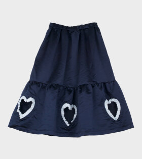 Comme Des Garçons Heart Skirt Blue - dr. Adams